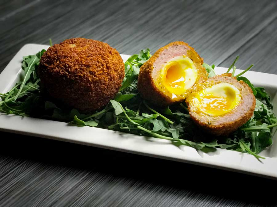 Scotch Eggs plated