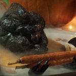 Close up of roasted Silkie Chicken aka Roast Dragon